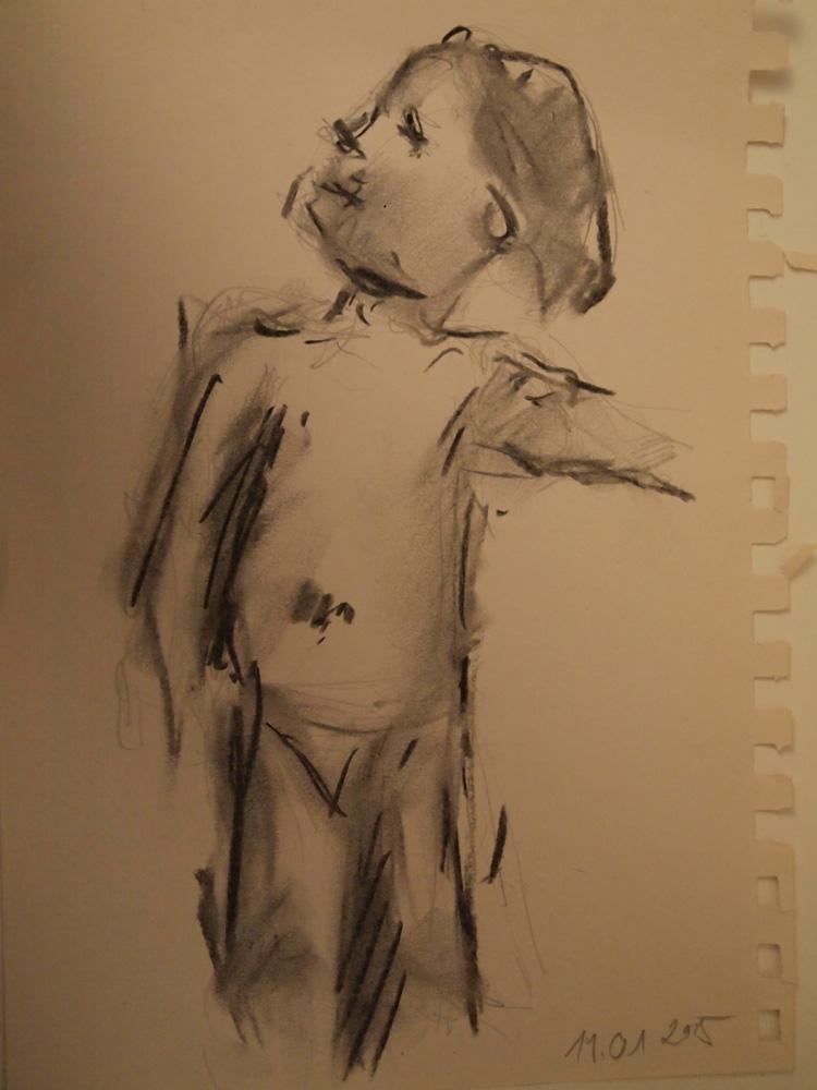 Kind, Zeichnung Kohle